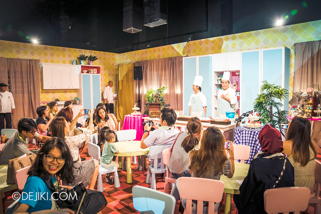Universal Studios Singapore Park Update 2017 - Chocolate Adventure event - Cupcake & Cookies Workshop area
