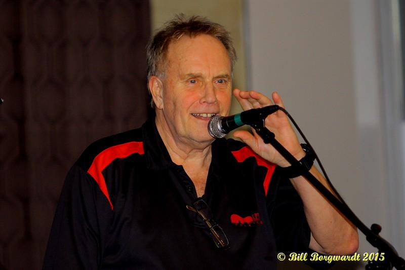 Steve Gosse - Uptown Folk Club president - Russell deCarle Trio at the Uptown Folk Club 002
