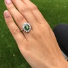 4.38ctw Art Deco Russian Demantoid & Diamond Cluster Ring 16