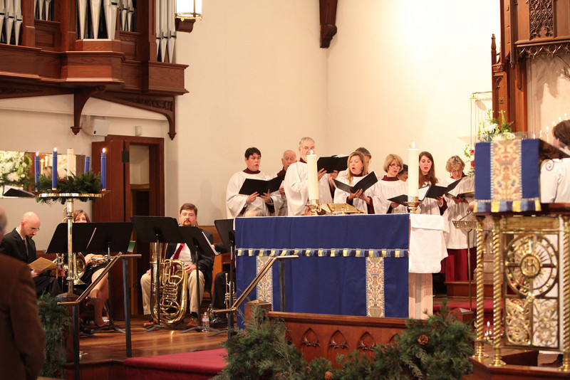 THE ST. PETER'S CHURCH CHOIR, LEFT SIDE