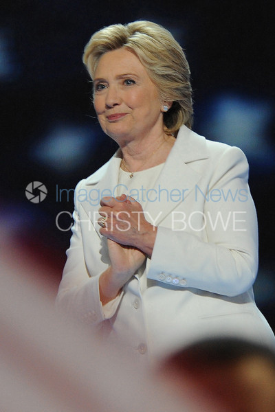 Hillary Rodham Clinton accepts her nomination for president of the United States from the Democratic Party during the 2016 Democratic Convention.