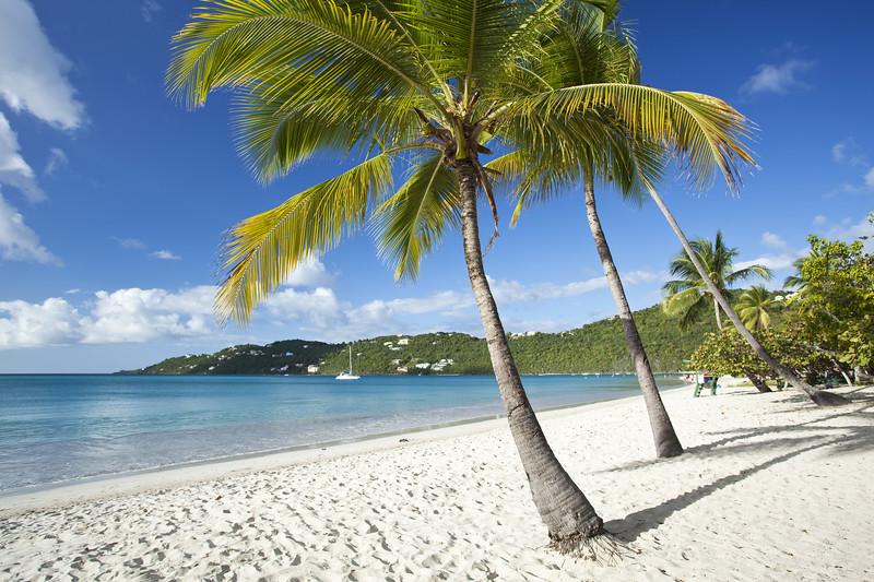 Magens Bay beach on St. Thomas in US Virgin Islands
