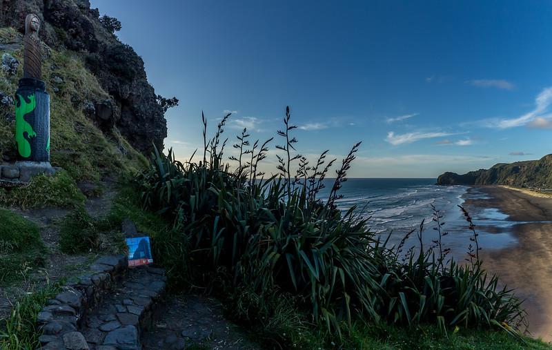 Eine Statue erinnert an den Lieblingsplatz einer Maori-Prinzessin
