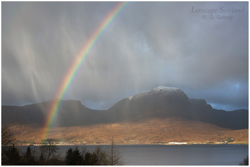 Rainbow and hail showers, Loch Kishorn