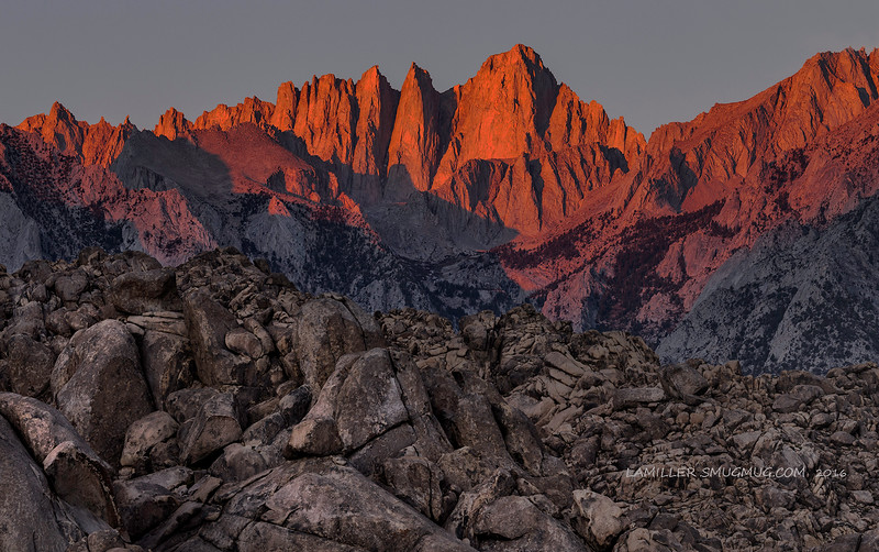 Sunrise At Mt Whitney - 2016