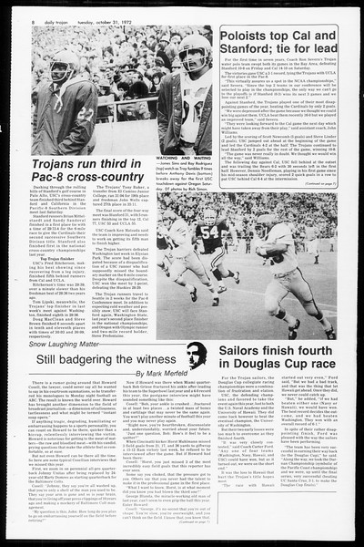 Daily Trojan, Vol. 65, No. 29, October 31, 1972