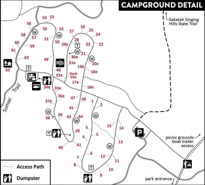 Sakatah Lake State Park (Campground Map)