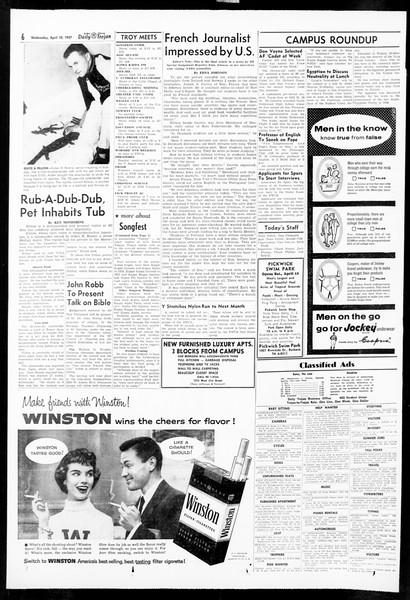 Daily Trojan, Vol. 48, No. 112, April 10, 1957
