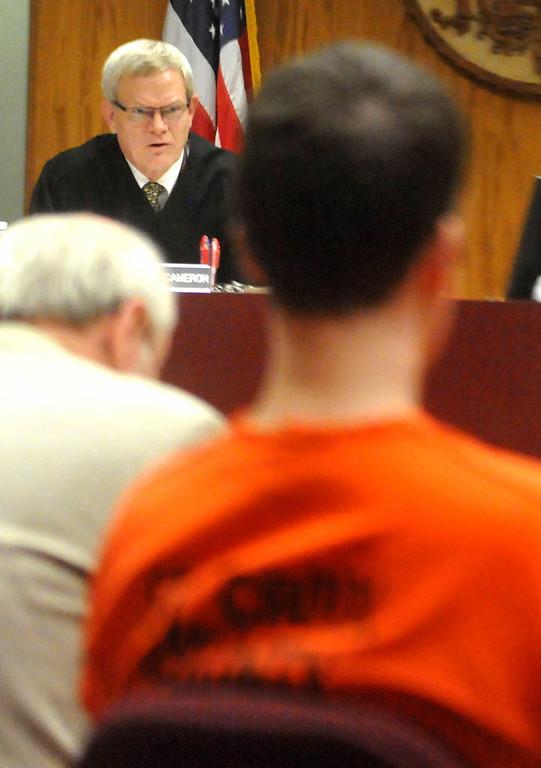 . St. Croix County Circuit Judge Howard Cameron sentenced Schaffhausen to life imprisonment without parole. (Pioneer Press: John Doman)
