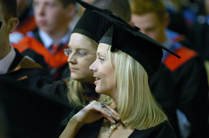 Provision 251006 Graduates have a chat before the WIT graduation ceremony begins on Wednesday. PIC Bernie Keating/Provision