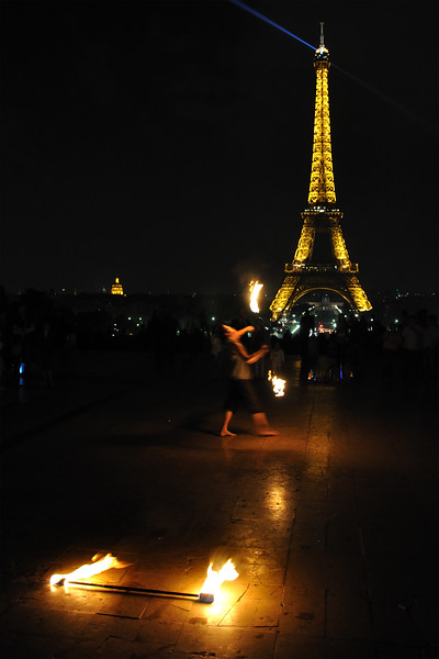 Fire Juggler - Trocadero, Paris, France - April 23, 2011