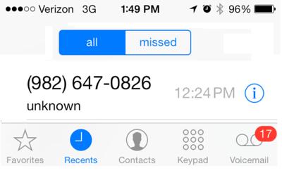 Phone Scam Caller ID Image, Prescriptions, Tamaqua (1-24-2014)