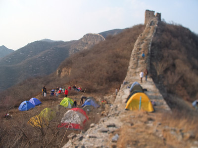 Chen castle Great wall camping