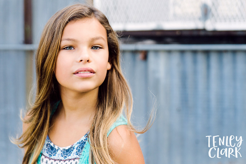 Bay Area kid's model headshot session by Tenley Clark Photography