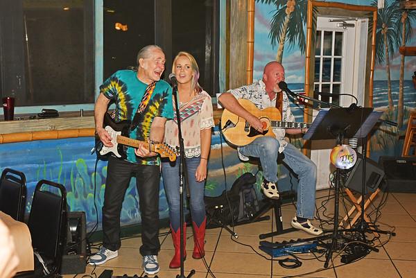 Bob Herrin, Don Berg, and Tora Herrin Singing in the Bar 03-14-15