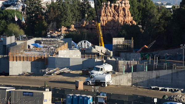 Disneyland Resort, Disneyland, Christmas, Holiday, Holidays, Christmas Time, Mickey And Friends Parking Structure, Mickey, Friends, Parking, Structure, Star Wars Land, Construction, Frontierland, Rivers Of America, Rivers, America, River