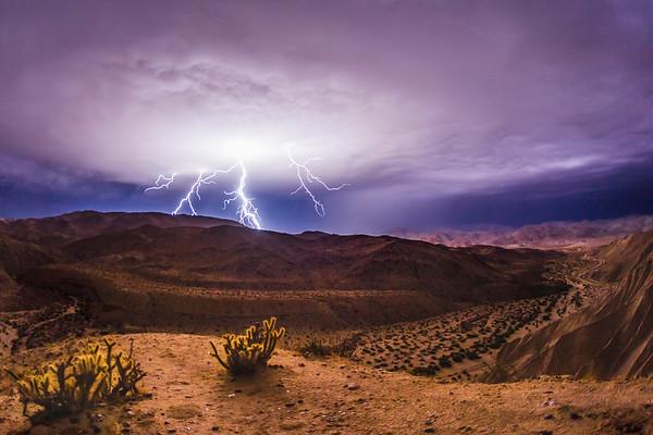 Lightning in San Diego County