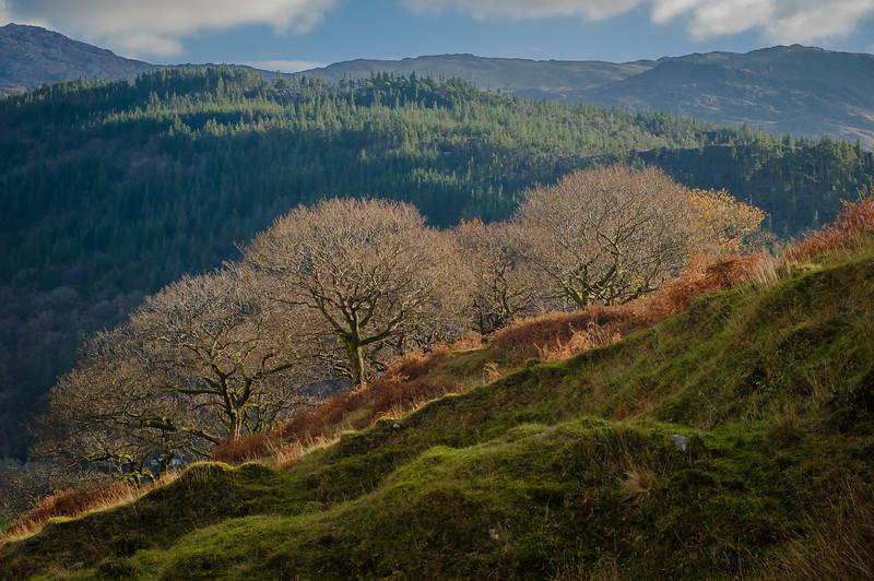 Autumn in the UK, Mount Snowdon, sfrom the Watkin Path