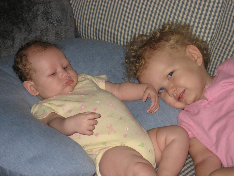Ellen 23 months and Emily 4 months