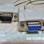 SKU: AG-COM/DB9, 3 Meter Serial RS232 (COM) Cable with DB9 9-PIN Crossover Mail/Female Connector