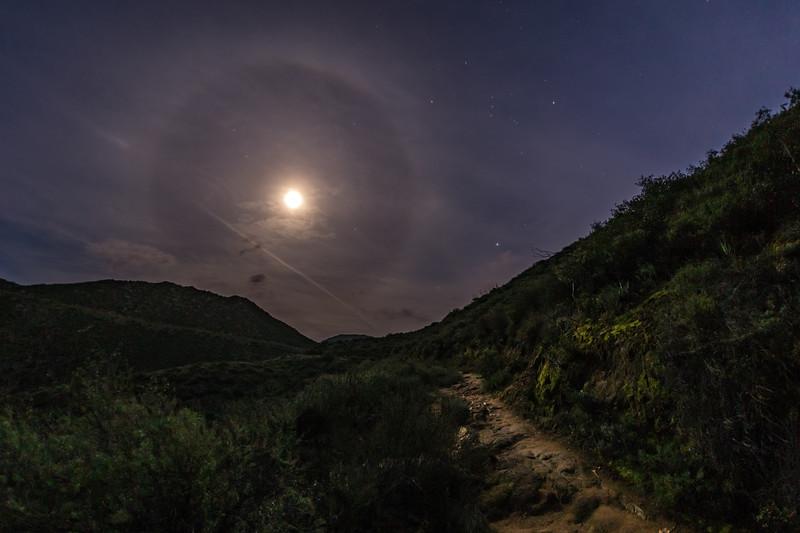 22° moon halo near Mildred Falls