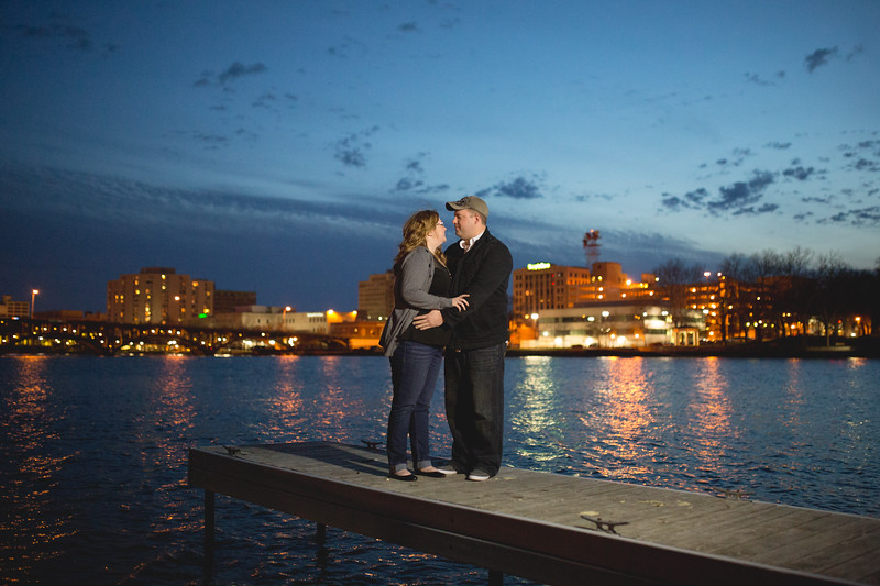 Downtown Rockford Engagement Photos at Prairie Street Brewhouse