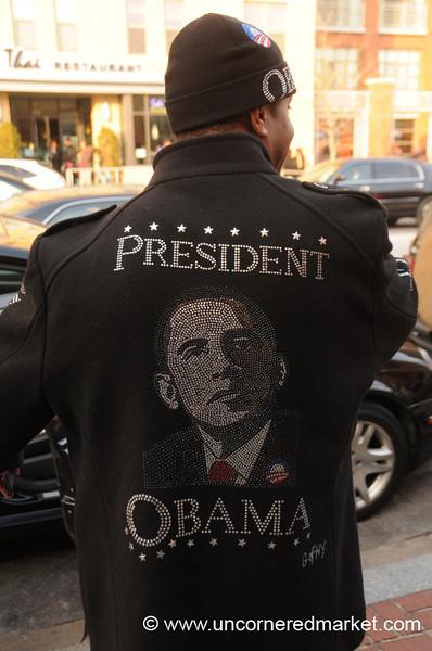 Obama on a Coat - Washington DC, USA