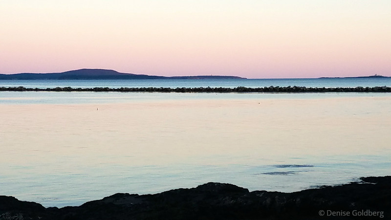 late day light, from the Shore Path in Bar Harbor, Maine
