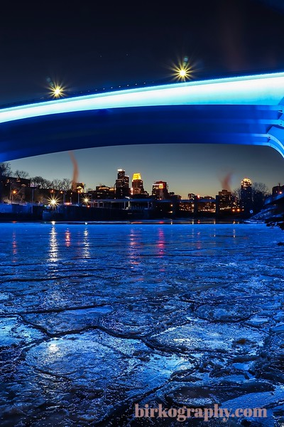 Cool ice formations under the I35 bridge.  Minneapolis, MN
