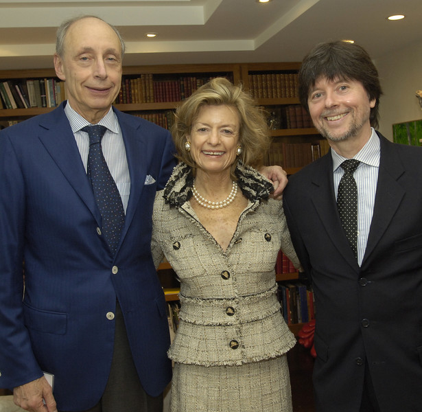 Martin and Debbie Hale with guest of honor Ken Burns.
