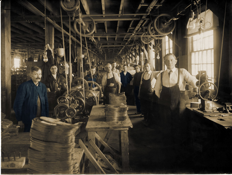 Factory Workers at Pillsbury Shoe