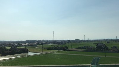 Shinkansen train at about 180 MPH