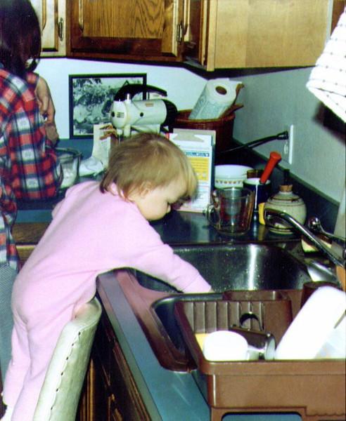 Connie & Alina, Making Dave's Birthday Cake, April 1994  .jpg