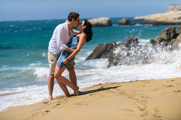 Elliot and Nicole (Proposal Photography) @ Panther Beach, Santa Cruz, California