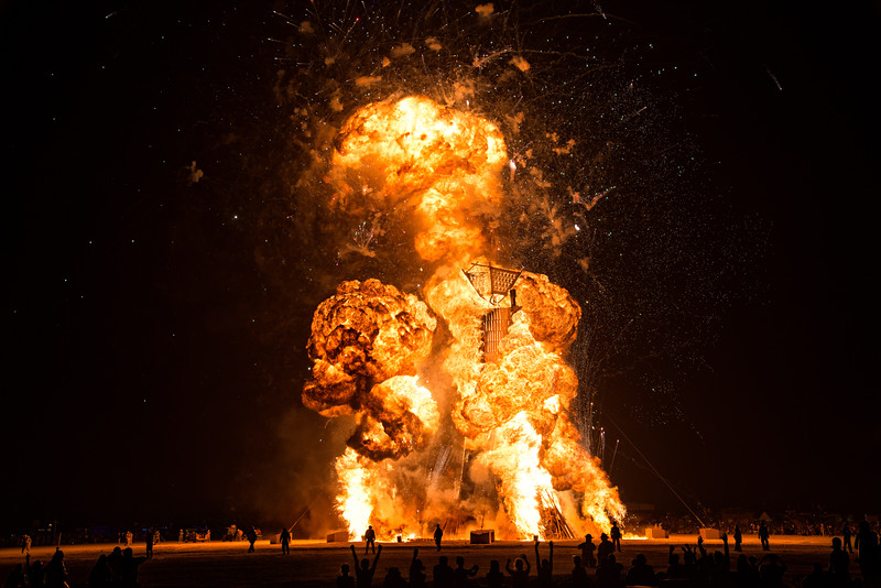The Man Burns  |  Burning Man