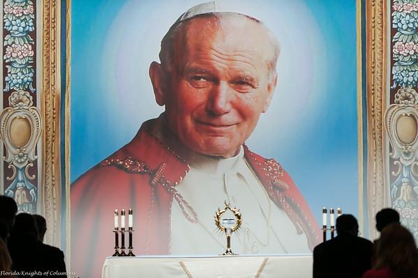 Veneration of the Relic of John Paul II