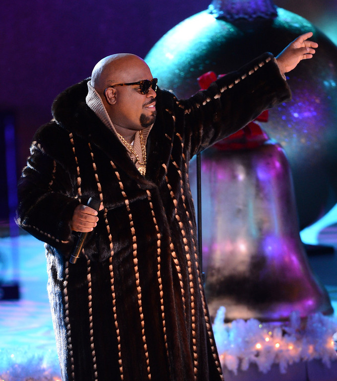 . Singer Cee Lo Green performs at the 80th Annual Rockefeller Center Christmas Tree Lighting Ceremony on November 28, 2012 in New York City.  (Photo by Stephen Lovekin/Getty Images)