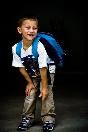 Kellen's first day of Kindergarten