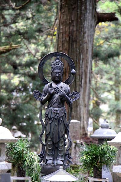 Buddha Sculpture in Cemetery