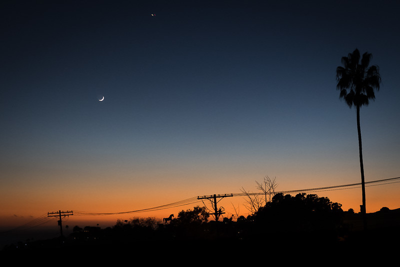 November 1 - Partial moon over sunset, Los Angeles.jpg