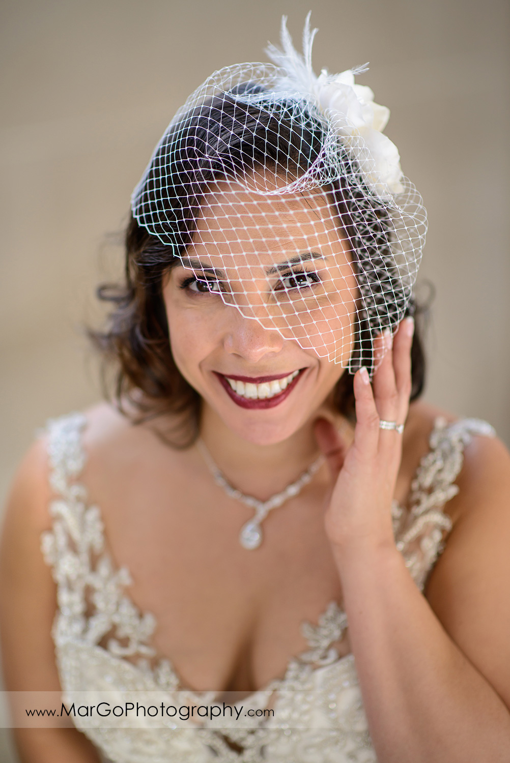 portrait of the bride at San Francisco City Hall