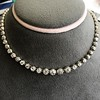 9.20ctw Victorian Riviere Diamond Necklace 19