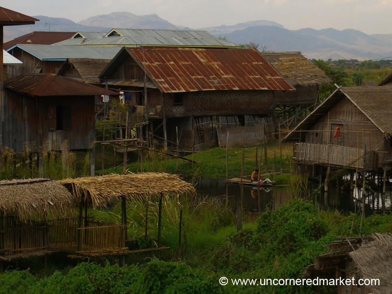 Typical Houses at Inle Lake - Inle Lake, Burma