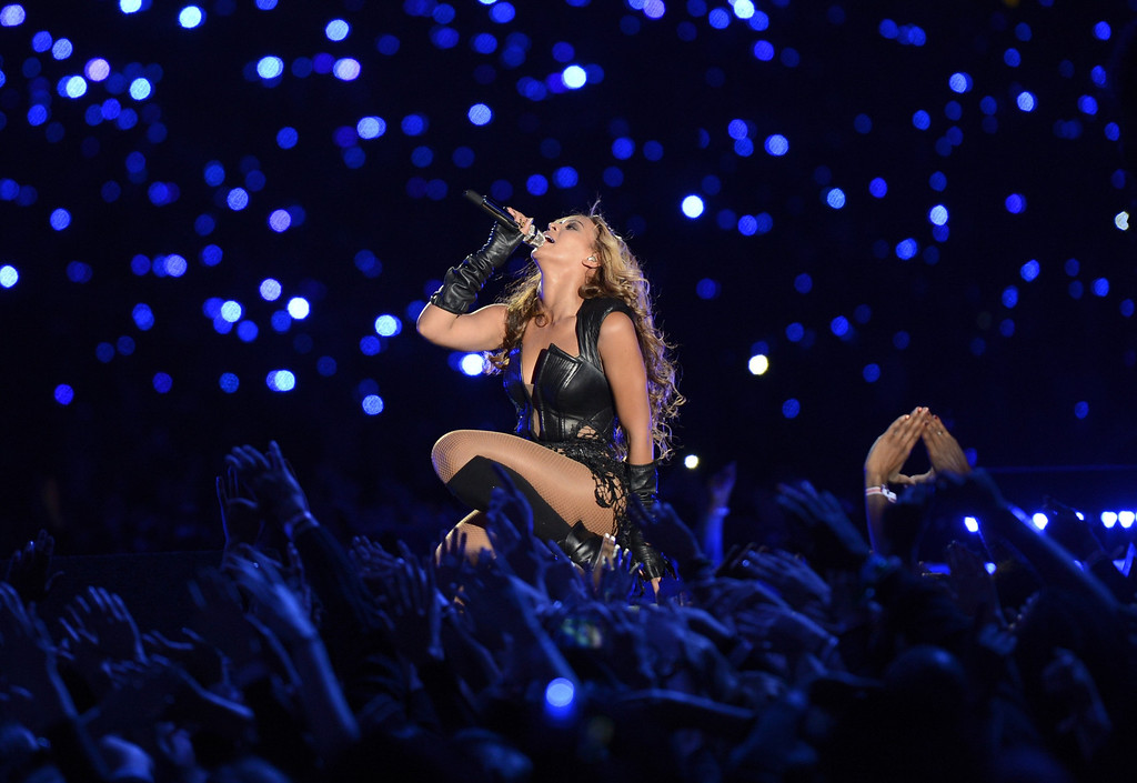 . Beyonce performs during the Pepsi Super Bowl XLVII Halftime Show at the Mercedes-Benz Superdome on February 3, 2013 in New Orleans, Louisiana.   TIMOTHY A. CLARY/AFP/Getty Images