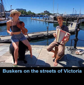 Buskers & Musicians on the streets of Victoria