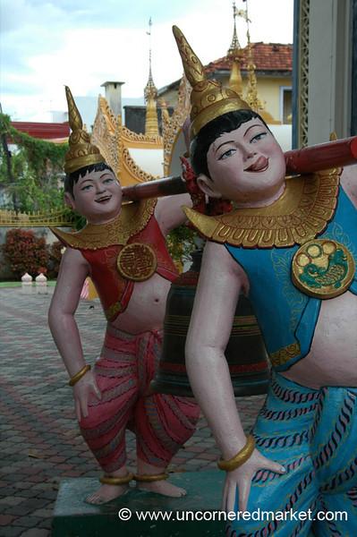 Chubby Buddhist Statues - Penang, Malaysia