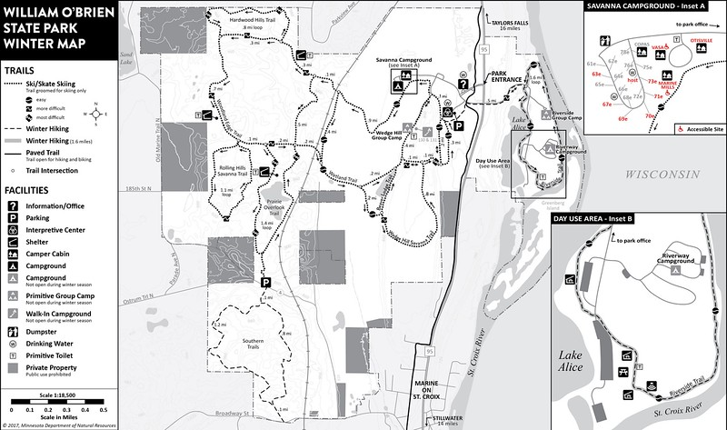 William O'Brien State Park (Winter Map)