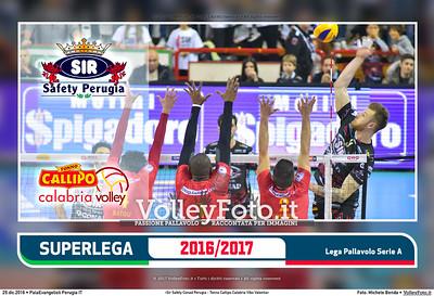 5ª ritorno #SuperLega «Sir Safety Conad Perugia - Tonno Callipo Calabria Vibo Valentia»