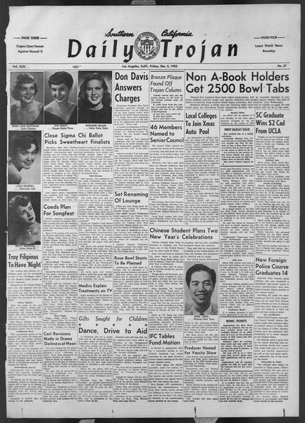 Daily Trojan, Vol. 44, No. 57, December 05, 1952