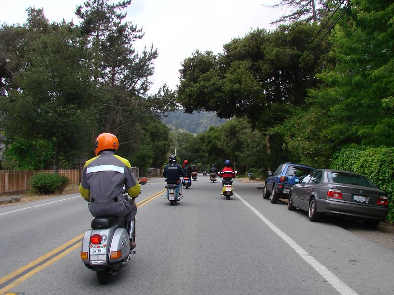 """Highway 84 leaving """"downtown"""" Woodside"""